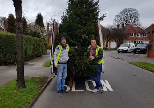 Volunteers from SLC were among a number ofWest Midlands organisations giving up their time at the start of this month to raise money for Birmingham St Mary's Hospice by collecting and recycling Christmas trees.